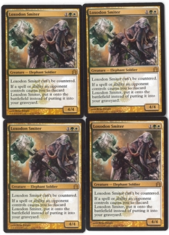 Magic the Gathering Return to Ravnica PLAYSET Loxodon Smiter X4 - NEAR MINT (NM)