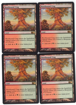 Magic the Gathering Magic 2011 PLAYSET Rootbound Crag X4 - NEAR MINT (NM)