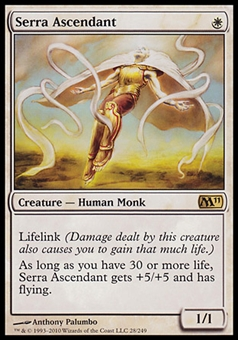 Magic the Gathering 2011 M11 Core Set Single Serra Ascendant - SLIGHT PLAY (SP)