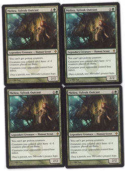 Magic the Gathering New Phyrexia PLAYSET Melira, Sylvok Outcast X4 - NEAR MINT (NM)