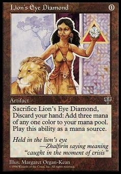 Magic the Gathering Mirage Single Lion's Eye Diamond - SLIGHT / MODERATE PLAY (SP/MP)