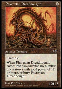 Magic the Gathering Mirage Single Phyrexian Dreadnought - NEAR MINT (NM)