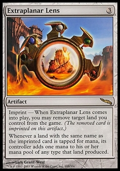 Magic the Gathering Mirrodin Single Extraplanar Lens - SLIGHT PLAY (SP)