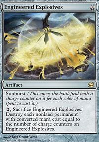 Magic the Gathering Modern Masters Single Engineered Explosives - MODERATE PLAY (MP)