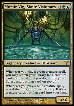 Magic the Gathering Dissension Single Momir Vig, Simic Visionary FOIL - MODERATE PLAY (MP)