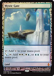 Magic the Gathering Oath of the Gatewatch Single Mystic Gate EXPEDITION FOIL - SLIGHT PLAY (SP)