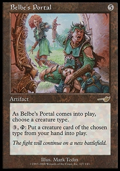 Magic the Gathering Nemesis Single Belbe's Portal - MODERATE PLAY (MP)