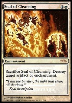 Magic the Gathering Nemesis Single Seal of Cleansing Foil - SLIGHT PLAY (SP)