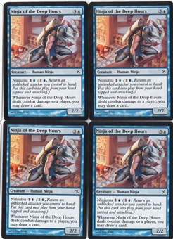 Magic the Gathering Saviors of Kamigawa PLAYSET Ninja of the Deep Hours X4 - NEAR MINT