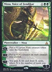 Magic: The Gathering Oath of the Gatewatch Promo Single Nissa, Voice of Zendikar FOIL - NEAR MINT (NM)
