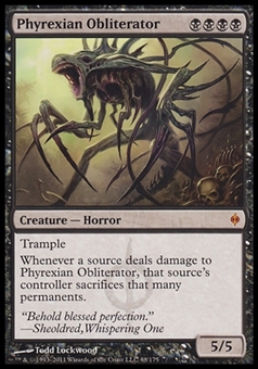 Magic the Gathering New Phyrexia Single Phyrexian Obliterator - SLIGHT PLAY (SP)