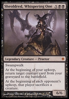 Magic the Gathering New Phyrexia Single Sheoldred, Whispering One - SLIGHT PLAY (SP)