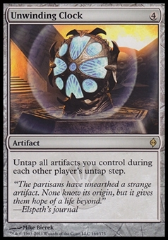 Magic the Gathering New Phyrexia Single Unwinding Clock - NEAR MINT (NM)