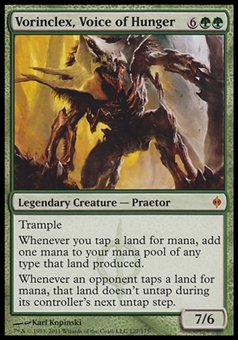 Magic the Gathering New Phyrexia Single Vorinclex, Voice of Hunger - SLIGHT PLAY (SP)