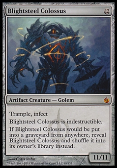 Magic the Gathering Mirrodin Besieged Single Blightsteel Colossus - MODERATE PLAY (MP)