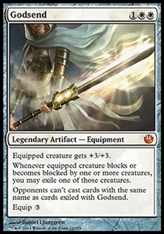 Magic the Gathering Journey into Nyx Single Godsend FOIL - SLIGHT PLAY (SP)