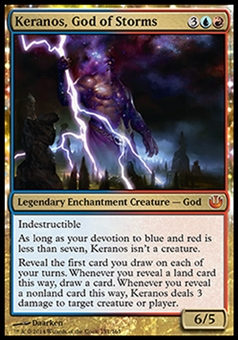Magic the Gathering Journey into Nyx Single Keranos, God of Storms - SLIGHT PLAY (SP)