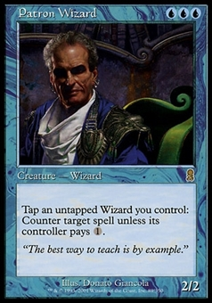 Magic the Gathering Odyssey Single Patron Wizard - MODERATE PLAY (MP)