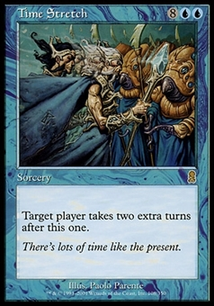 Magic the Gathering Odyssey Single Time Stretch FOIL - SLIGHT PLAY (SP)