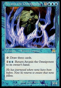 Magic the Gathering Onslaught Single Arcanis the Omnipotent FOIL - SLIGHT PLAY (SP)