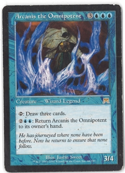 Magic the Gathering Onslaught Single Arcanis the Omnipotent - HEAVY PLAY (HP)