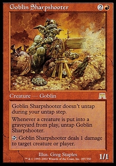 Magic the Gathering Onslaught Single Goblin Sharpshooter FOIL - SLIGHT PLAY (SP)