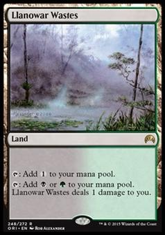 Magic the Gathering Magic Origins Single Llanowar Wastes NEAR MINT (NM)