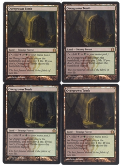 Magic the Gathering Return to Ravnica PLAYSET Overgrown Tomb X4 - NEAR MINT (NM)