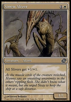 Magic the Gathering Planar Chaos PLAYSET Sinew Sliver X4 - SLIGHT PLAY (SP)