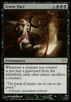 Magic the Gathering Planechase Single Grave Pact - SLIGHT PLAY (SP)