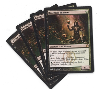 Magic the Gathering Return to Ravnica PLAYSET Deathrite Shaman X4 - NEAR MINT (NM)