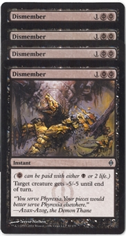 Magic the Gathering New Phyrexia PLAYSET Dismember X4 - NEAR MINT (NM)