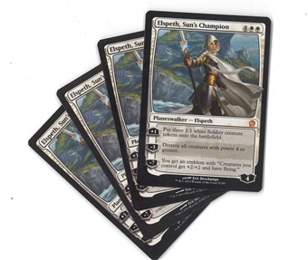 Magic the Gathering Theros PLAYSET Elspeth, Sun's Champion X4 - SLIGHT PLAY (SP)