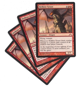 Magic the Gathering Gatecrash Single PLAYSET Hellkite Tyrant X4 - NEAR MINT (NM)