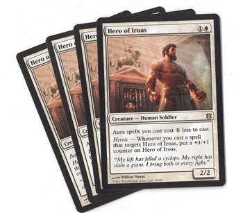 Magic the Gathering Born of the Gods Single PLAYSET Hero of Iroas X4 - NEAR MINT (NM)