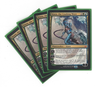 Magic the Gathering Born of the Gods PLAYSET Single Kiora, the Crashing Wave X4 - NEAR MINT (NM)