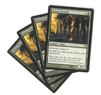 Magic the Gathering Theros PLAYSET Sylvan Caryatid X4 - NEAR MINT (NM)