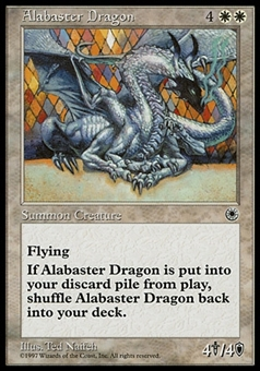 Magic the Gathering Portal Single Alabaster Dragon - SLIGHT PLAY (SP)