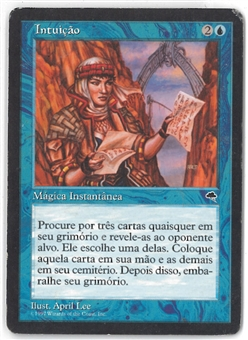 Magic the Gathering Tempest PORTUGUESE Single Intuition - MODERATE PLAY (MP)