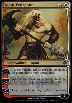 Magic the Gathering Prerelease Promotional Single - Ajani Vengeant - SLIGHT PLAY (SP)