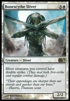 Magic the Gathering Promotional Single Bonescythe Sliver FOIL (Duels Planeswalkers)