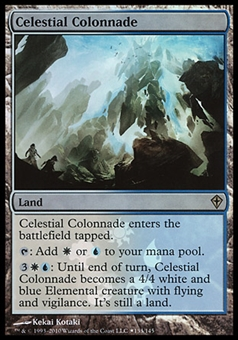 Magic the Gathering Promotional Single Celestial Colonnade FOIL - SLIGHT PLAY (SP)