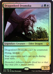 Magic the Gathering Promo Single Dragonlord Dromoka FOIL - NEAR MINT (NM)