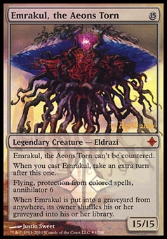 Magic the Gathering Promotional Single Emrakul, the Aeons Torn FOIL - MODERATE PLAY (MP)