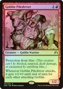 Magic the Gathering Promo Single Goblin Piledriver FOIL - NEAR MINT (NM)