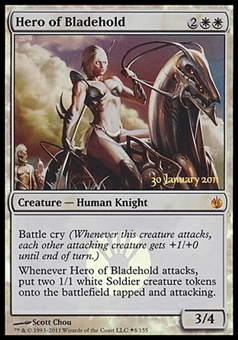 Magic the Gathering Promotional Single Hero of Bladehold FOIL - SLIGHT PLAY (SP)