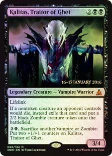 Magic the Gathering Oath of the Gatewatch Single Kalitas, Traitor of Ghet Promo FOIL - NEAR MINT (NM)