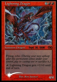 Magic the Gathering PRERELEASE Single Lightning Dragon FOIL - NEAR MINT (NM)
