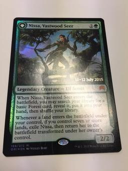 Magic the Gathering Magic Origins Promo Nissa, Vastwood Seer FOIL - CREASED