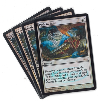 Magic the Gathering Promo PLAYSET Path to Exile FOIL - SLIGHT PLAY (SP)